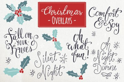 Christmas Overlays Set 6 - Vector