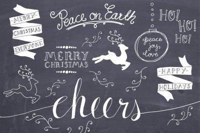 Christmas Overlays Set 3 - Vector