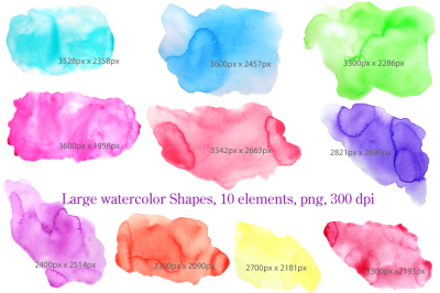 Watercolor Background Texture Shapes