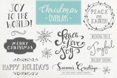 Christmas Overlays Set 1 - Vector