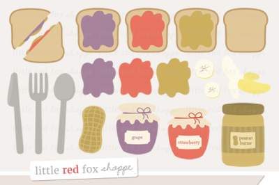 Peanut Butter & Jelly Clipart