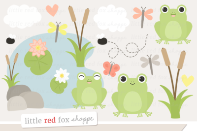 Frog Pond Clipart