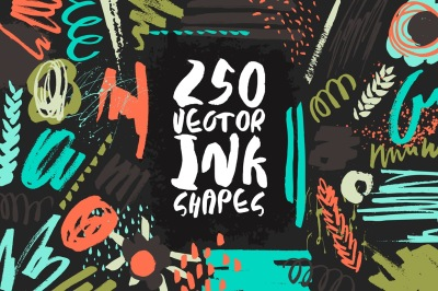 250 Vector Ink Shapes