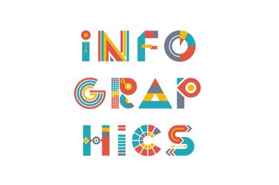 Infographics Word Logo