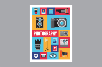 Photography Mosaic Flat Style Poster