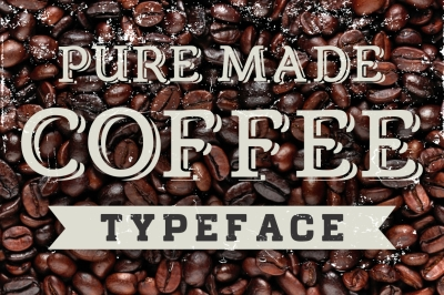 Coffee Shop letters - vector
