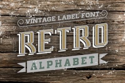 Vintage Letters Retro