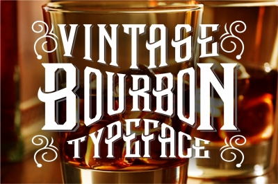 Vintage Alcohol Label Lettering