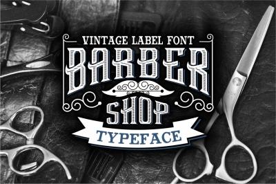 Vintage Barber Shop Letters