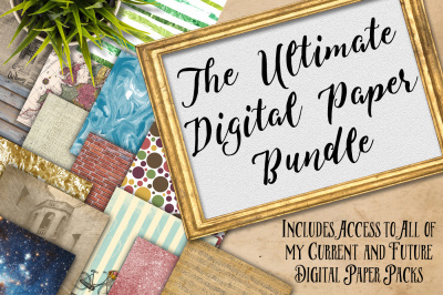 SALE - Digital Textures Scrapbook Paper Bundle - Includes All of my Current Digital Paper Designs AND Future Designs