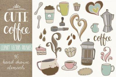 Cute Coffee Clip Art & Vectors