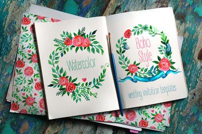 Boho Wedding Invitations&3A; ROSES