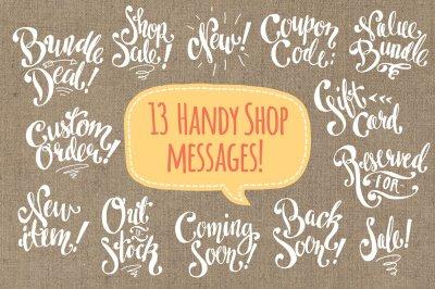 Shop Messages / Digi Stamps