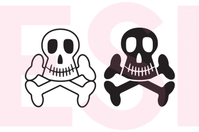 Skull & Crossbones Set - SVG, DXF, EPS, PNG cutting files