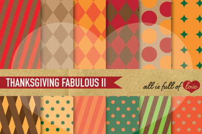 Thanksgiving Geometric background Patterns