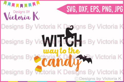 Witch way to the Candy, SVG, DXF, Cricut, Silhouette Cut Files