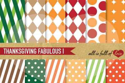 Thanksgiving Geometric white background Patterns
