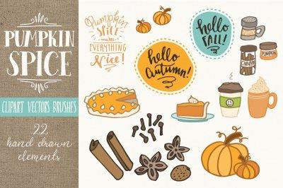 Pumpkin Spice Clip Art & Vectors