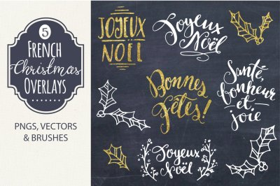 French Christmas Overlays