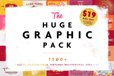 HUGE GRAPHIC PACK • 95% OFF