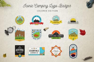 Iconic Camping Logo Badges 2