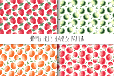 Summer swimsuits and fruits