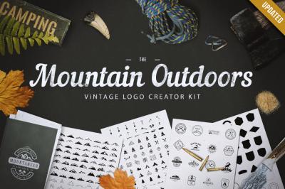 Mountain Outdoor Vintage Logo Kit