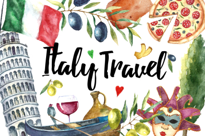 Watercolor Italy Travel