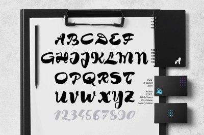 Brush font Tim