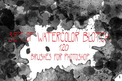 Watercolor blotch brushes set