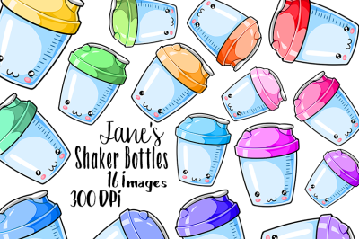 Kawaii Shaker Bottle Clipart
