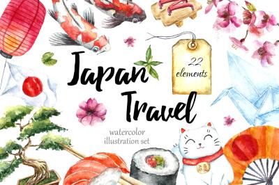 Japan Travel clip art