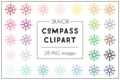Rainbow Compass Clipart