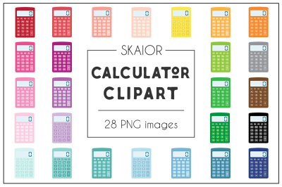 Rainbow Calculator Clipart