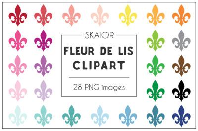 Rainbow Fleur De Lis Clipart