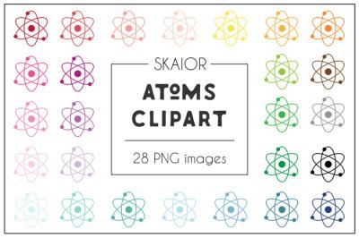 Rainbow Atom Clipart
