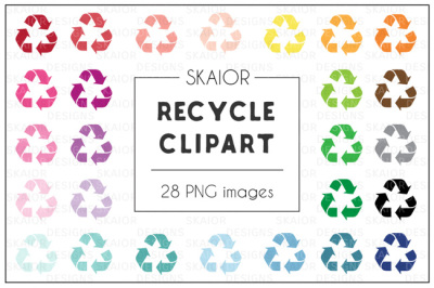 Rainbow Recycling Clipart