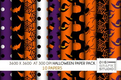 Halloween Digital Papers Pack VOLUME 1, Seamless Pattern Paper Pack, Seamless Pattern
