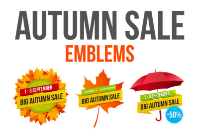 Autumn Sale Emblems