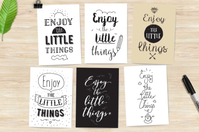 Inspirational cards. Enjoy the little things.