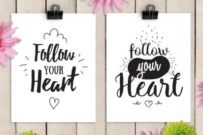 Follow your heart, inspirational cards #2