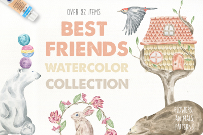 Best Friend Watercolor Collection
