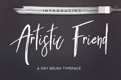 Artistic Friend Rough Font