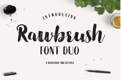 Rawbrush Font Duo