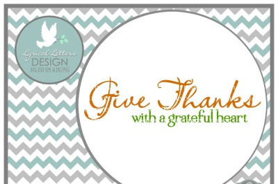 Give Thanks with a Grateful Heart SVG DXF EPS AI JPG PNG
