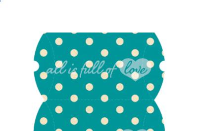 Turquoise Pillow Box printable template