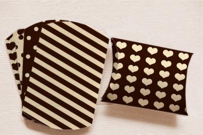 Black Pillow Box Printable Goodies Bag