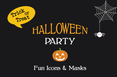Halloween icons, masks & party props