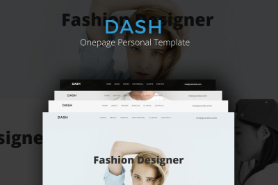 Dash - Onepage Personal Template