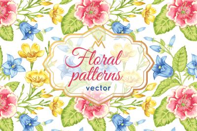 Floral patterns.